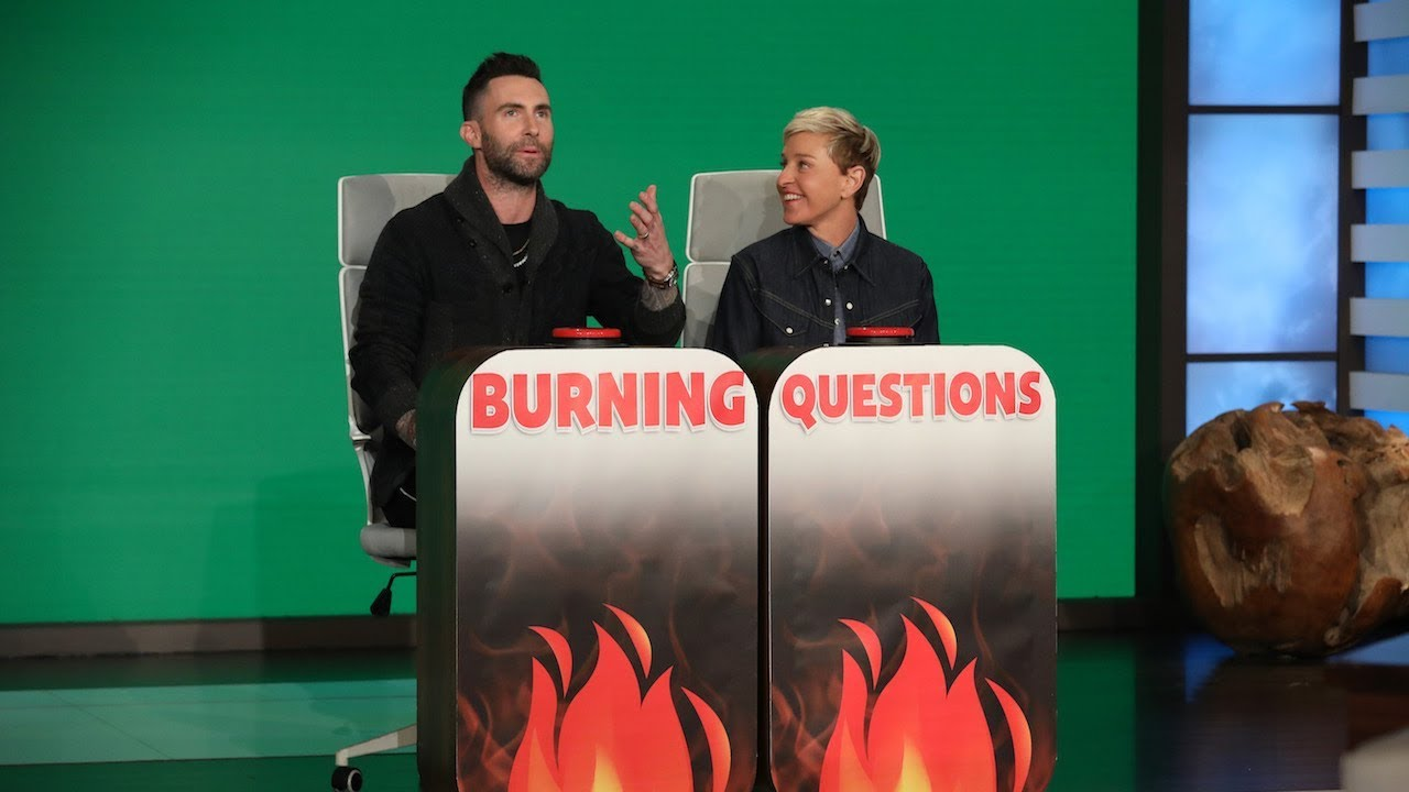 Adam Levine Answers Ellen's 'Burning Questions'