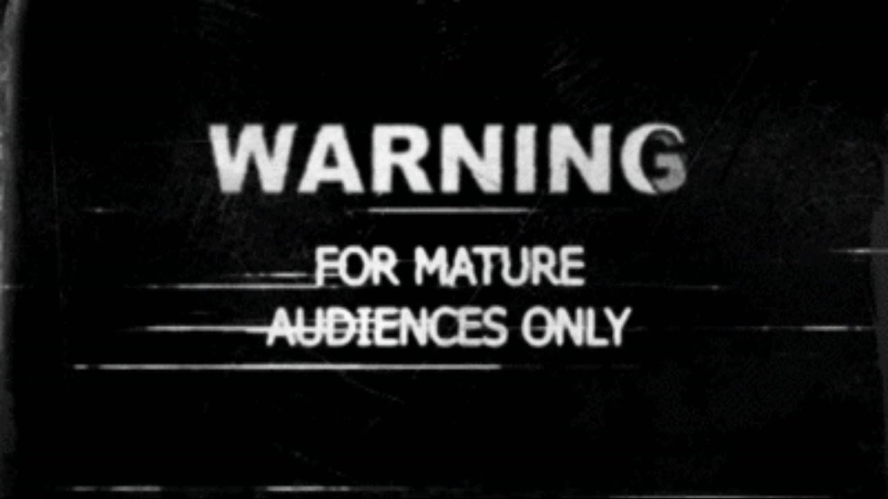 Mature audiences only small retro badge