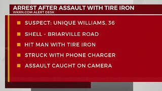 Arrest After Assault With Tire Iron