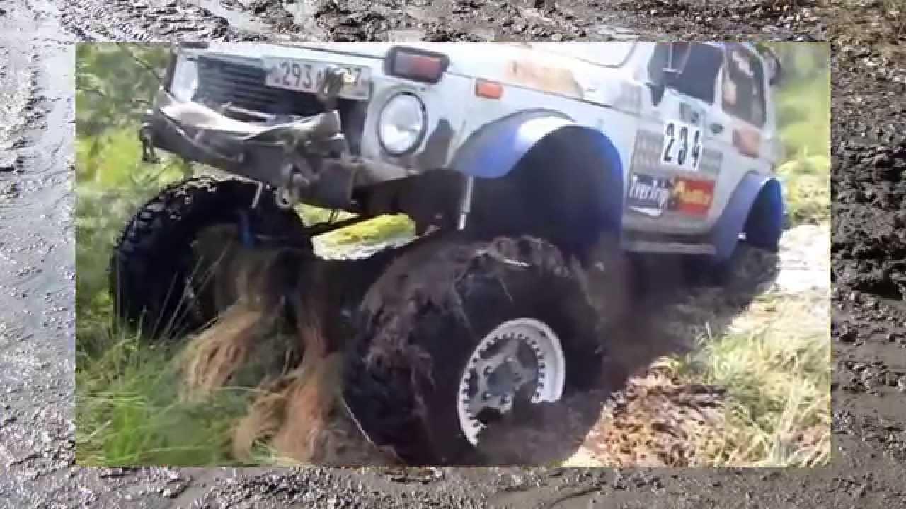 машины по грязи на больших колесах видео