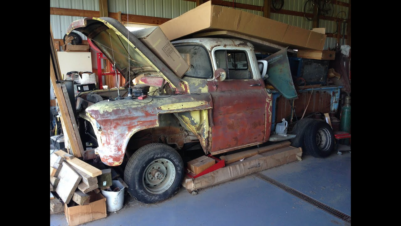 RARE 1957 Chevrolet NAPCO 4x4 Shortbed Stepside Pickup Project for ...