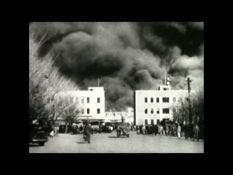 1946 Newsreel- Fire Sweeps US Army Post Exchange in Yokohama