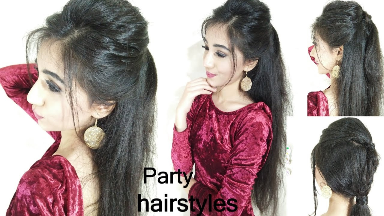 how to- quick and easy party hairstyles | long hair hairstyle for party hairstyle,