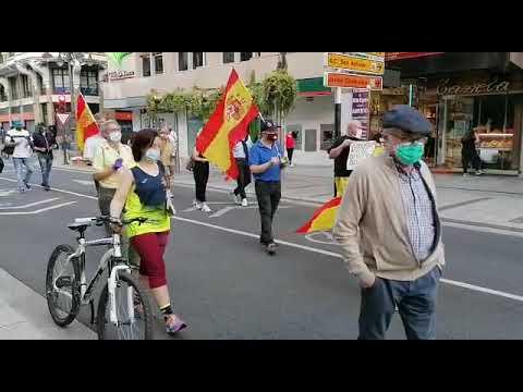 Protestas en el centro de León contra el Gobierno