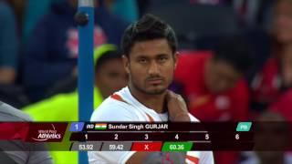 Sundar Singh GURJAR|GOLD Men's Javelin F46 Final | London 2017 World Para Athletics Championships