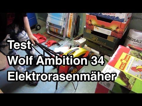 Test Wolf Garten Ambition 34 Elektrorasenmäher Indoor