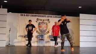 Bboy Babylon MZK showcase at UK Bboy Chionships Japan 2015