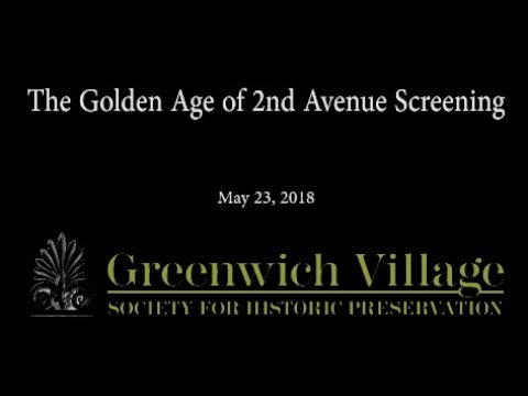 The Golden Age of 2nd Avenue Screening