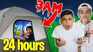 Brothers Stay In Insane Fortnite Gaming Tent For 24 Hours Challenge!