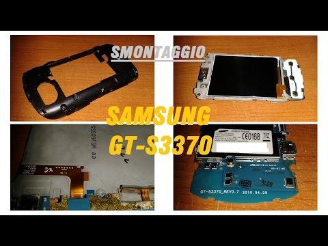 Smontaggio Samsung GT-S3370 Pocket (modello 2010)