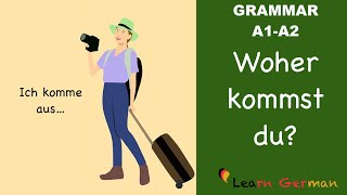 learn german   german grammar   where are you from   woher kommst du   a1