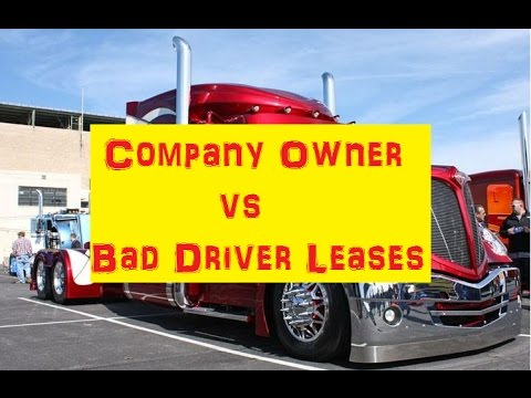 A Trucking Exec Explodes The Myths About Lease Owners From His Side of The Desk  STUNNING INFO!