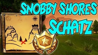FOLLOW THE TREASURE CARD FROM SNOBBY SHORES - BATTLE PASS CHALLENGE - FORTNITE BATTLE ROYALE