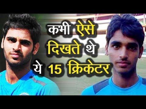 Indian Cricketers Then And Now Virat Kohli Dhoni Bhuvneshwar Kumar