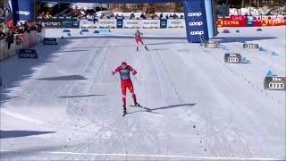 """На этапе """"Тур де Ски"""" в Италии российские лыжники преподнесли настоящий подарок всем болельщикам."""