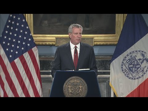 Bill de Blasio Re-election News Conference