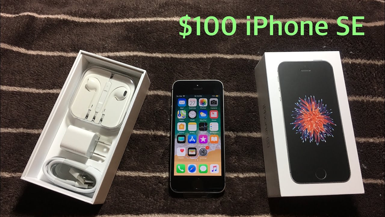 $100 Iphone SE Total Wireless unboxing+is it unlocked?