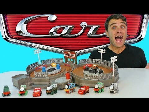 Cars Mini Racers Crank and Crash Derby Playset ! || Toy Review || Konas2002