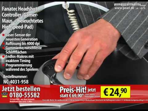 Fanatec Headshot Controller (Gamer-Maus + beleuchtetes Highspeed-Pad)