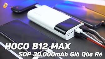 Hoco B12 MAX - Pin Dự Phòng 30.000mAh Sao Lại Rẻ Thế Này Chỉ Hơn 350K!!!