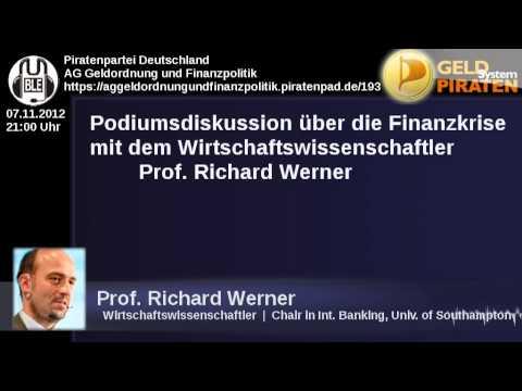 Geldsystempiraten - Podiumsdiskussion zur Finanzkrise mit Prof. Richard Werner