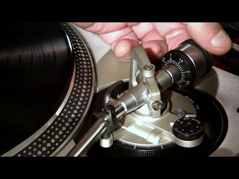 How to setup your technics sl-1200  tonearm, cartridge and antiskating - stanton 681eee with brush