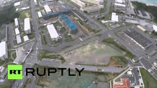 Japan: Drone footage captures US Marine base Camp Schwab