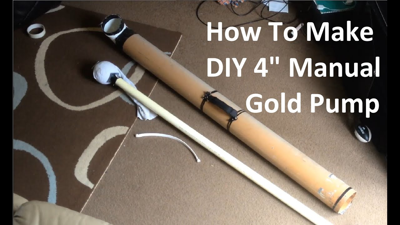 how to make diy 4 manual gold pump suction dredge new improved