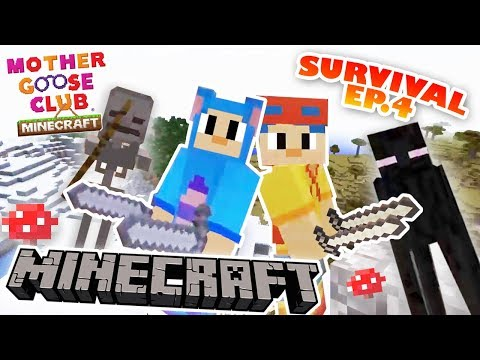 Jack and Eep Survival | Ep 4 | Minecraft Cave House Tutorial | Mother Goose Club Minecraft