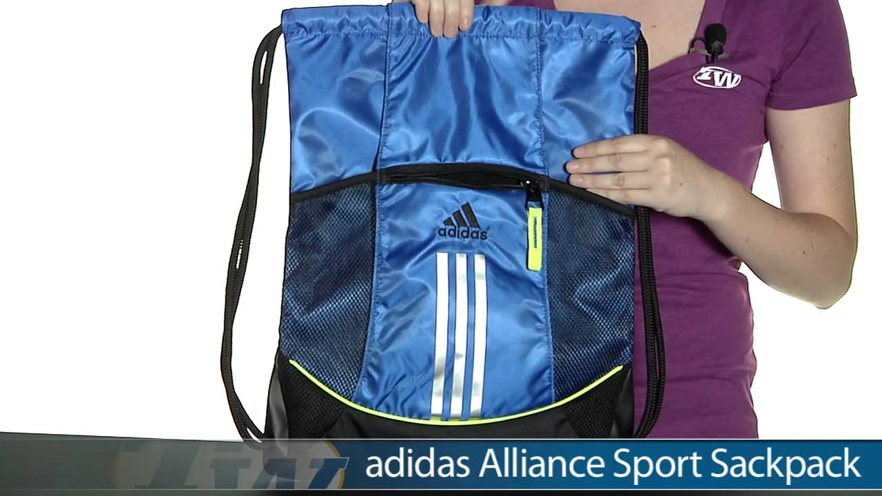 Adidas Alliance Sport Sackpack - YouTube 7cc7b87dbd0b9