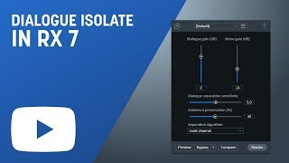 Isolate Dialogue from Noisy Backgrounds with Dialogue Isolate in RX 7 Advanced