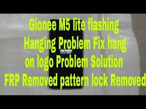Gionee M5 lite flashing hanging Problem fix hang on logo