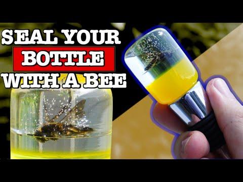 Resin Bee Bottle Stopper - DIY Resin Casting Art Wine Cork
