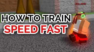 HOW TO TRAIN SPEED FAST! | Super Power Training Simulator | ROBLOX