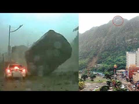 Taiwan rockslide: 2,000-ton boulder teetering, close to falling