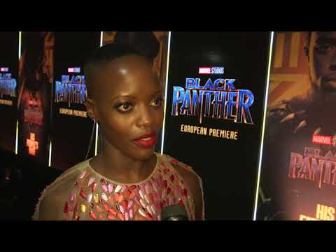 Black Panther London Premiere - Itw Florence Kasumba (official video)