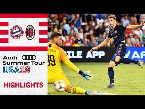 Highlights - FC Bayern vs AC Milan 1-0 | Goretzka converts Kimmich's brilliant pass | ICC 2019