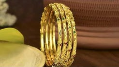 Gold Bangles set 4 designs
