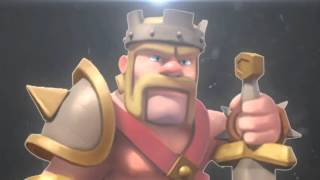 Clash of clans barbarian king vs archer queen