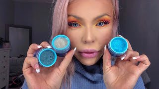 ASMR EATING JEFFREE STAR'S EDIBLE LIP SCRUBS (BLUE BLOOD MAKEUP COLLECTION)