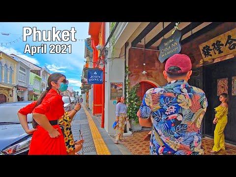 Walking in Phuket Thailand - Phuket Old Town - Phuket 2021