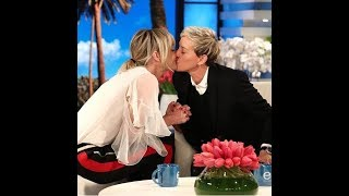 Ellen cries and kisses Portia in her 60th birthday .. so emotional!
