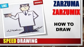 SPEED DRAWING HOW TO DRAW UTIONIUM STEP BY STEP