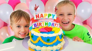 Vlad & Mom kejutan ulang tahun dan permen