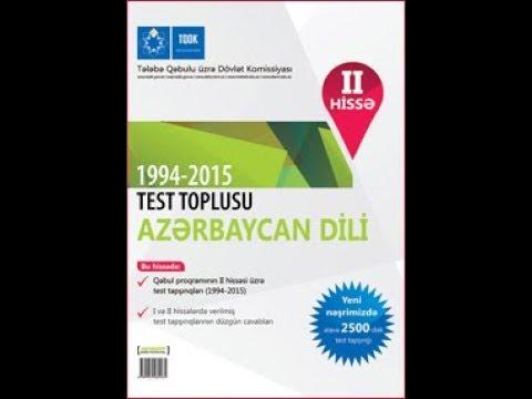 Azerbaycan dili TQDK test toplusu cavablar