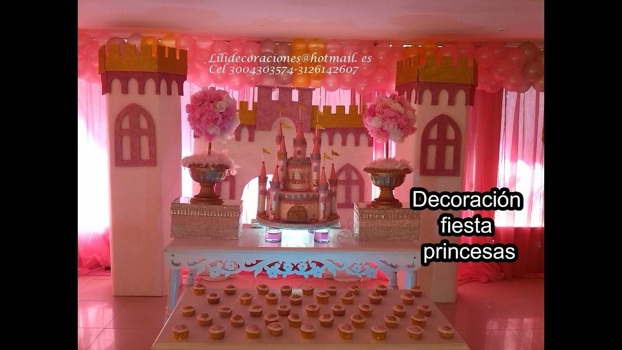 Decoracion fiesta princesa youtube - Decoracion fiesta princesas disney ...