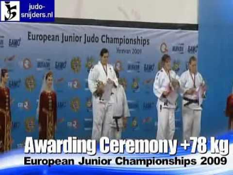 Judo 2009 Yerevan: Awarding Ceremony [+78kg]
