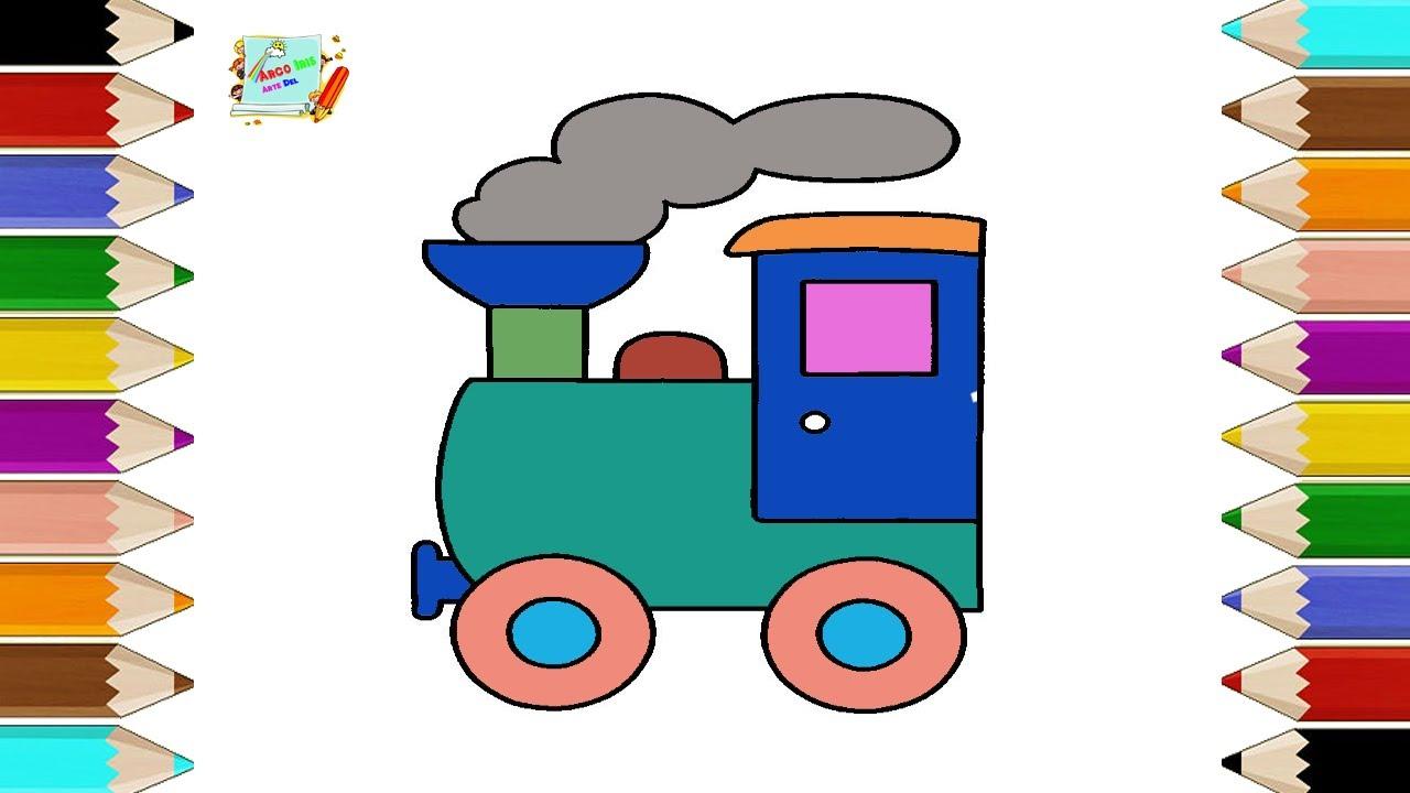 Como Dibujar un Tren Para Niños | Dibujos Para Niños - YouTube