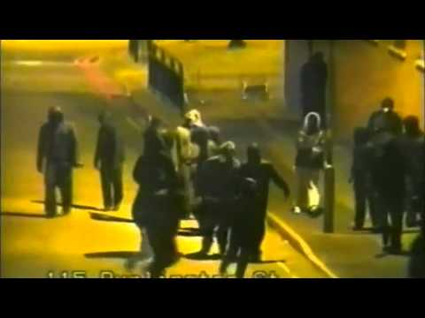 Footage shows Birmingham rioters shooting at police
