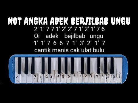 Free Download Not Pianika Adek Berjilbab Ungu  (not Angka) Mp3 dan Mp4